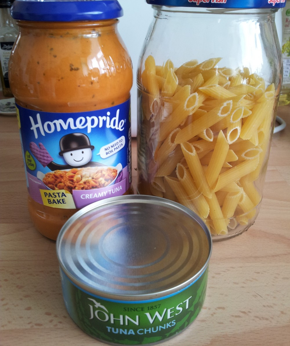 tuna pasta bake ingredients