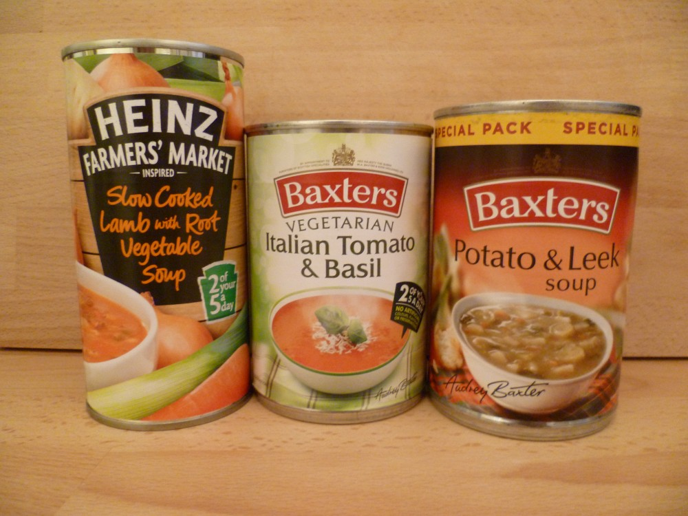 tinned soups